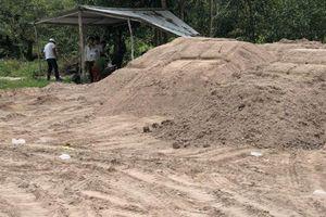 Tịch thu 630m3 cát bồi nền