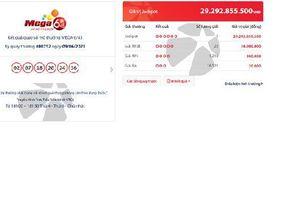 Mua vé số qua Vietlott SMS, trúng hơn 29 tỷ đồng