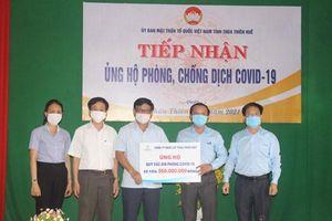Thừa Thiên Huế tiếp nhận hơn 500 triệu đồng cho Quỹ Vaccine phòng chống Covid-19