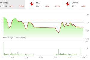 Giao dịch chứng khoán phiên chiều 10/6: Lực bán thắng thế, VN-Index tiếp nhịp điều chỉnh
