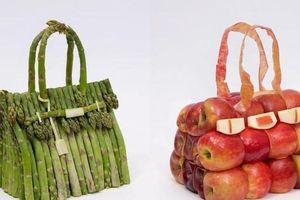 'Ngỡ ngàng bật ngửa' với bộ sưu tập túi xách Hermès làm từ rau xanh, hoa quả