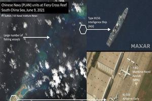 Cảnh báo việc Trung Quốc đưa nhiều tàu, máy bay giám sát đến đá Chữ Thập