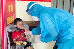 Em bé 10 tuổi F1 ở Hà Tĩnh dương tính với SARS-CoV-2