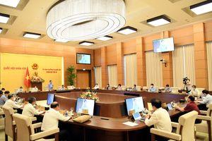 Phiên họp thứ 57 của Ủy ban Thường vụ Quốc hội diễn ra từ ngày 14-6 đến 15-6