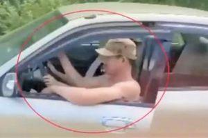Xử phạt đôi nam nữ trong clip 'ngồi chung ghế lái ô tô' lao vun vút trên đường