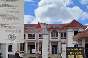 Vụ tòa án lập khống 57 hồ sơ: Chánh án TAND tỉnh Đắk Nông nhận trách nhiệm