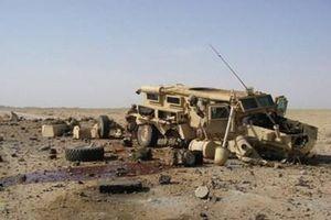 Xe bọc thép của Mỹ vỡ vụn sau khi dính tên lửa do Nga sản xuất