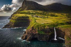 Kinh ngạc trước cảnh đẹp của Quần đảo Faroe (Đan Mạch) được chụp từ trên cao