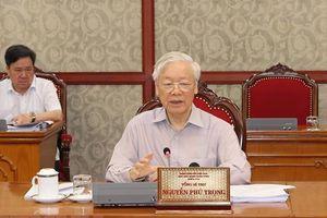 Tổng Bí thư yêu cầu cả hệ thống chính trị tập trung cao nhất để phòng, chống dịch Covid-19