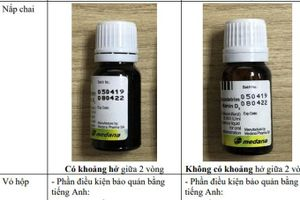 Cảnh báo Aquadetrim Vitamin D3 nghi ngờ giả