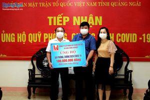 Tiếp nhận 190 triệu đồng ủng hộ Quỹ phòng, chống dịch Covid-19