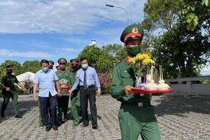 An táng trọng thể 40 hài cốt liệt sĩ tìm thấy ở Chiến khu Ba Lòng
