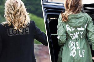 Thông điệp khác biệt trên áo khoác của 2 đời đệ nhất phu nhân Mỹ