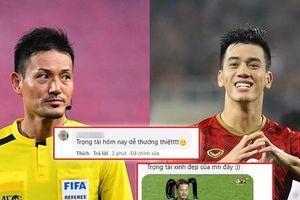 Sau bàn thắng của Tiến Linh, netizen thả tim nhiệt tình trọng tài Nhật: Chế ảnh 'cười xỉu'