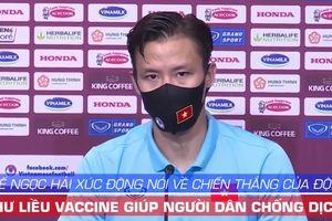Quế Ngọc Hải xúc động kể điều thầy Park nói với toàn đội trước trận