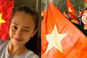 Dàn hoa, á hậu vỡ òa với chiến thắng của đội tuyển Việt Nam trước Malaysia