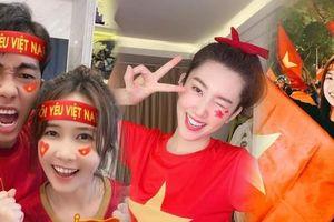 Dàn Hoa hậu, Á hậu nô nức cổ vũ, vỡ òa khi đội tuyển Việt Nam thắng 2-1 trước ĐT Malaysia