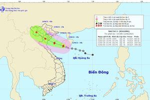 Áp thấp nhiệt đới đã mạnh lên thành cơn bão số 2