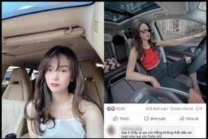 Chuyện showbiz: Minh Hằng lên tiếng khi bị 'soi' không thắt dây an toàn lúc lái xe