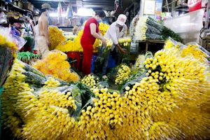 Mua nhanh, bán nhanh ở chợ hoa Đầm Sen để phòng dịch COVID-19
