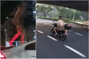Singapore bắt người đàn ông khỏa thân lái xe máy