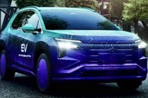 SUV chạy điện đầu tiên của Mitsubishi lộ diện trên đường thử