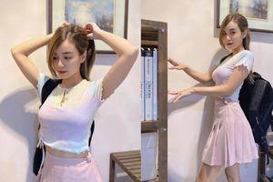 Cindy Lư hóa thân thành 'cô nữ sinh' váy hồng, Đạt G liền căn dặn: 'Nhớ ăn cơm rồi làm bài tập nhé'