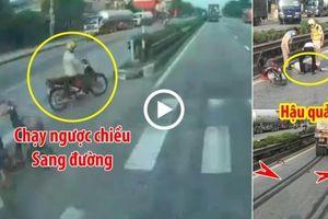 Chạy xe máy ngược chiều khi sang đường, người phụ nữ bị container tông bất tỉnh