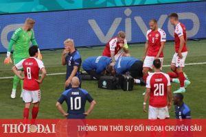 Cận cảnh Eriksen đổ gục xuống sân khiến người hâm mộ sốc