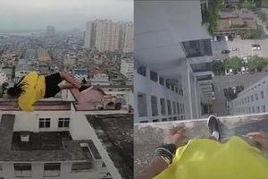 Clip TikTok biểu diễn parkour của bạn trẻ Việt gây tranh cãi: Nhảy lộn ngược qua nóc nhà