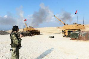 Thổ Nhĩ Kỳ nã pháo dữ dội vào quân đội Syria trả đũa vụ ném bom của máy bay Nga