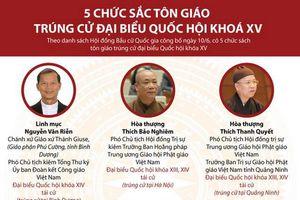 5 chức sắc tôn giáo trúng cử đại biểu Quốc hội khóa XV