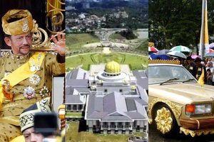 Quốc vương Bruney sống xa hoa đến từng cm: Sưu tập 7000 siêu xe, 1 lần cắt tóc gần 500 triệu