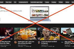 Youtube chặn quảng cáo về cờ bạc hiển thị ở đầu trang chủ