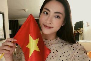 Dàn Hậu háo hức dự đoán tỷ số của đội tuyển Việt Nam trước UAE