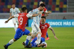 Argentina 0-0 Chile: Thế trận thận trọng (H1)