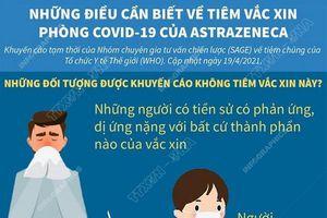 Những đối tượng nào được khuyến cáo không tiêm vaccine AstraZeneca?