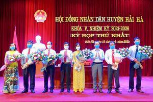 HĐND huyện Hải Hà khóa V, nhiệm kỳ 2021 - 2026, tổ chức kỳ họp thứ nhất