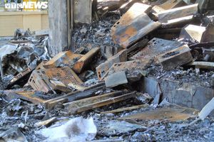Hình ảnh tan hoang của phòng trà xảy ra hỏa hoạn khiến 6 người chết