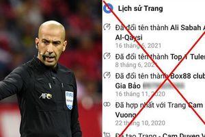 Netizen 'tấn công' Facebook trọng tài bắt trận Việt Nam - UAE, ai ngờ là tài khoản pha-ke!