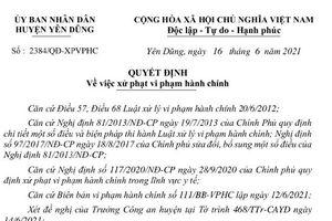 Vi phạm quy định phòng chống dịch, Công ty TNHH Việt Thịnh Plastic bị xử phạt