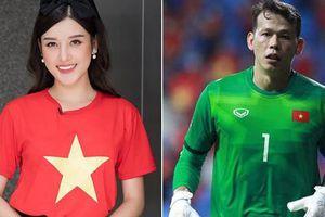 Á hậu Huyền My lên tiếng bênh vực thủ môn Tấn Trường sau trận đấu với UAE