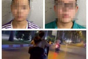 Phạt tiền, giữ phương tiện của hai thanh niên bốc đầu xe tại Văn Quán