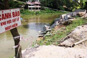 Khẩn cấp xử lý sự cố sạt lở bờ hữu sông Bùi