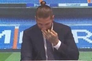 Ramos bật khóc khi chia tay Real