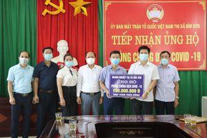 Thị xã Bỉm Sơn tiếp nhận gần 300 triệu đồng ủng hộ Quỹ phòng, chống dịch COVID-19
