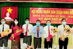 HĐND quận Ninh Kiều bầu các chức danh chủ chốt của quận