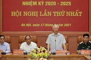 Tổng Bí thư Nguyễn Phú Trọng chủ trì Phiên họp lần thứ nhất Quân ủy Trung ương nhiệm kỳ 2020-2025
