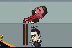 Biếm họa 24h: UEFA cảnh báo những cầu thủ 'học theo' Ronaldo