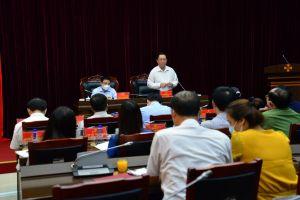 Trưởng Ban Tuyên giáo Trung ương làm việc với lãnh đạo chủ chốt tỉnh Điện Biên